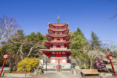 Chureito Pagoda in japan. Chureito Pagoda in autumn, Fujiyoshida, Japan Royalty Free Stock Image