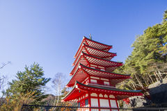 Chureito Pagoda in japan. Chureito Pagoda in autumn, Fujiyoshida, Japan Royalty Free Stock Photos