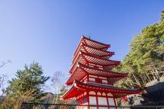 Chureito Pagoda in japan Royalty Free Stock Photos
