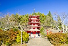 Chureito Pagoda Stock Photo