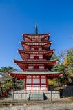 Chureito Peace Pagoda Stock Photo