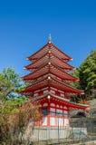 Chureito Peace Pagoda against blue sky Royalty Free Stock Photography