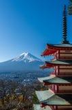 Chureito Peace Pagoda with Mt. Fuji Royalty Free Stock Photo