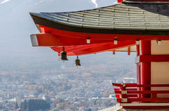 Chureito Peace Pagoda roof in Japan Stock Photography