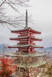 Chureito red pagoda Stock Photo