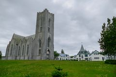 Churh chrétien catholique dans la ville de reakjavik en Islande images libres de droits