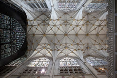 Churh interior, york minster ornate ceiling Royalty Free Stock Image