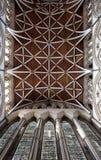Churh interior, york minster ornate ceiling Royalty Free Stock Photo