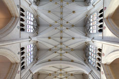 Churh interior, york minster ornate ceiling Royalty Free Stock Photography