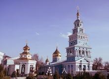 Churh. Russian Orthodox Church under blue sky Royalty Free Stock Photography