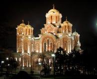 Churh of St. Marko. Church of St. Marko is located in Tasmajdan park in centre of Belgrade, Serbia Royalty Free Stock Image