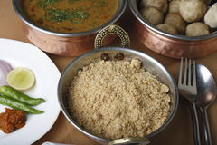 Churma - ground wheat dish from India Royalty Free Stock Photos
