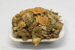 Churmur is een populair de straatvoedsel van Calcutta stock afbeeldingen