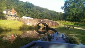 Churnet Valley. Canalboat life 1 Stock Photography