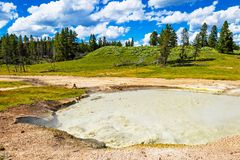 Churning Cauldron. Hot spring in Yellowstone National Park royalty free stock images