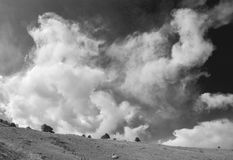Churning Clouds, in Black and White Stock Images