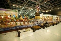 Churning of the Milk Ocean Sculpture Royalty Free Stock Photos