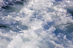 Churning Water behind Speedboat Stock Photo