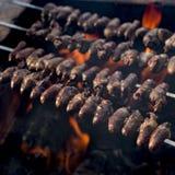 Churrasco, comida brasileña tradicional de la barbacoa Imagenes de archivo