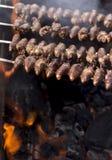 Churrasco, comida brasileña tradicional de la barbacoa Fotos de archivo