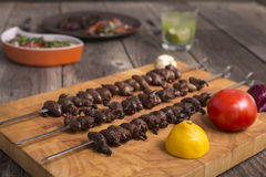 Churrasco, traditional Brazilian barbecue food Stock Image