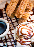 Churro Dessert Stock Image