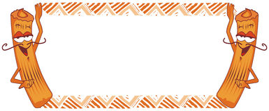 Churro frame, spanish donut. Illustration with churro frame, spanish donut Royalty Free Stock Photo