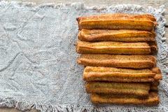 Churros - beroemd Spaans dessert stock foto