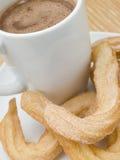 churros de chocolat chauds Photo libre de droits
