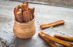Churros - dessert espagnol célèbre Images stock