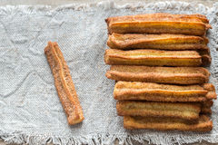 Churros - dessert espagnol célèbre Photos stock