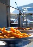 Churros a fait frire des dognuts d'Espagnol de beignets de farine Photographie stock libre de droits