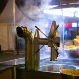 Churros i czekoladowego fritter typowy jedzenie w Walencja Fallas Zdjęcie Stock