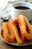 Churros paste choux fried glazed with sugar Stock Photography