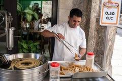Street food seller Stock Image