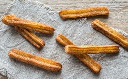Churros - sobremesa espanhola famosa Imagens de Stock Royalty Free