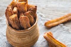 Churros - sobremesa espanhola famosa Fotografia de Stock