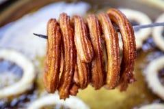 Churros turcos de Halka Tatlisi da sobremesa da rua imagem de stock