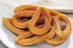 Churros typical of Spain Stock Image