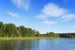 Chusovaya river Royalty Free Stock Photos
