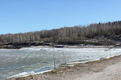 Chusovaya rzeka w Perm Fotografia Royalty Free