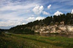 chusovayaflod Arkivfoto