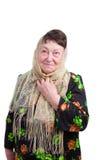 chustka na głowę stara kobieta zdjęcia stock