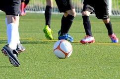 Chut no primeiro plano em um jogo de futebol Foto de Stock