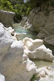 Chute. River in the canyon of Acheron,Greece Stock Image
