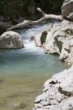 Chute. River in the canyon of Acheron stock photos