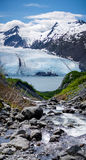 Chute au glacier de transport Images libres de droits