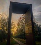 Chute/automne dans le cimetière de Vestre copenhague denmark photo stock