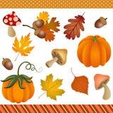 Chute Autumn Clipart Digital illustration de vecteur