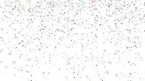 Chute colorée de confettis illustration libre de droits